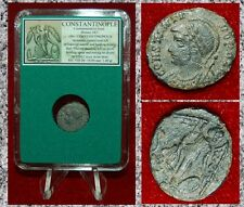 Ancient Roman Empire Coin Commemorative CITY OF CONSTANTINOPOLE Winged Victory