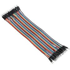 Male to Male 40Pcs 20cm Color Breadboard Jumper Dupont Cable For Arduino