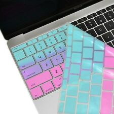 "Hot Blue&Purple Faded Ombre Keyboard Cover Skin for Macbook 12""with Retina A1534"