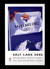 SALT LAKE CITY 2002 LOGO FLAG - Olympic Poster - WHITE LOGO FLAG