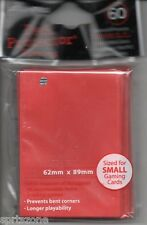 Yu-Gi-Oh! Yu Gi Oh YGO Small ULTRA PRO Card Sleeves 60 Ct SOLID RED