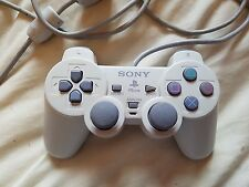 Official Sony Playstation PS1 Light Grey Controller Dual Shock Analog