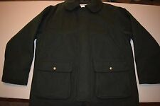vtg L.L. Bean Heavy 100% Wool Coat Men's Large Dark Green Made in Usa jacket