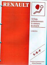 RENAULT  LAGUNA - Air-bags, prétensionneurs et ceintures de sécurité