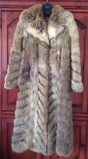 Coyote Fur Coat Full Length Chevron Small Chicago Jacket Ankle Fall