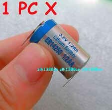 1 PC x New Tabbed 3.6V 1.2Ah ER14250 LI-SOCl2 1/2AA Battery Non-rechargeable