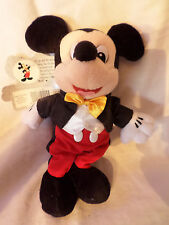 "2000 Celebrate the Future Mickey Mouse Bean 10"" Plush Soft Toy Stuffed Animal"