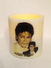 MICHAEL JACKSON  ELECTRONIC FLAMELESS FLICKERING CANDLE d1