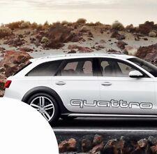 Audi Quattro Outline XXL Auto Aufkleber 120 cm für die Karosserie Rallye Schwarz