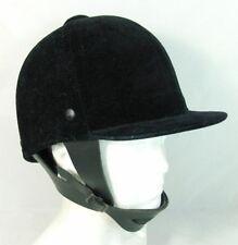 Horse Riding Equestrian Hat Helmet Black Velvet Somerset Hunt Cap 71/4 59cm New