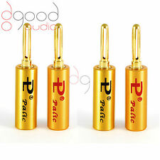 4 x Palic High Quality Gold Plated 4 mm Banana Plugs Speakers Terminal Connector