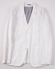NWT $1145 DOLCE & GABBANA White Cotton Blazer 40 or Slim 42 R Sport Coat