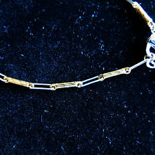 Classic Beautiful Tennis Bracelet Gold & Silver Plated Chain
