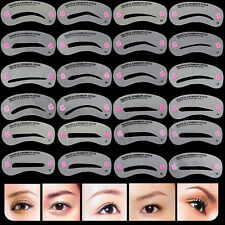 24X/Set Eyebrow Stencils Shaping Grooming Brow Make Up Template Reusable Designs