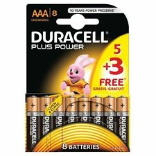 Duracell Plus Power AAA 1.5V Alkaline LR03 Batteries for Cameras / Toys - 8 Pack