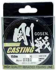 TRECCIATO W8 CASTING PE 30 LB GOSEN 150 MT GREEN PESCA SPINNING 0,216 MM BRAIDED