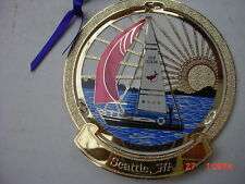 NEW  ChemArt   2009  Seattle  Sailboat  Collectible Christmas Tree Ornament