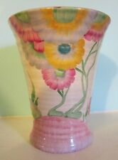 Clarice Cliff post Bizarre Pink Pearls 602 vase A/F hand painted art deco