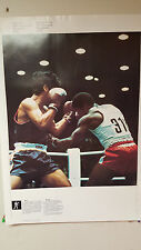 VINTAGE 1976 MONTREAL OFFICIAL COJO OLYMPICS POSTER BOXING & WRESTLING