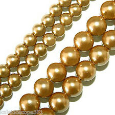 MAGNETIC HEMATITE BEADS GOLD PEARLIZED 4MM HIGH POWER