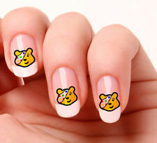 20 Nail Art Decals Transfers Stickers #493 -  Pudsey Bear just peel & stick