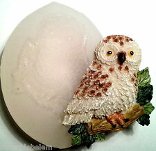 OWL - silicone mould - food us, resin, fimo etc - silicone mold