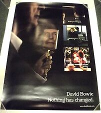 DAVID BOWIE NOTHING HAS CHANGED RARE ORIGINAL PROMO POSTER 2014
