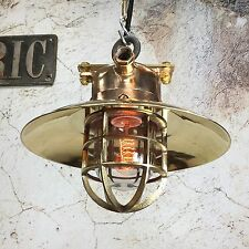 4x vintage industriale light-bronze / ottone metallo prova di esplosione Soffitto Ciondolo