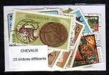 Chevaux 25 timbres différents oblitérés