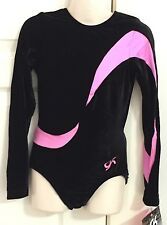 NWT GK leotard CL long sleeve gymnastics leo child large + scrunchie **NEW**