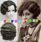 2016 New Retro wave short Brown wig Vintage Finger Waves Synthetic Hair Wig