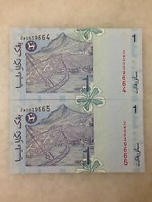 (JC) 2 pcs RM1 11th Series Signed Zeti Replacement Note ZW 0039664 to 665 UNC