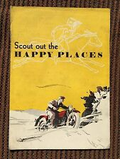 Antique 1930 Indian Scout Motorcycle Sales Brochure