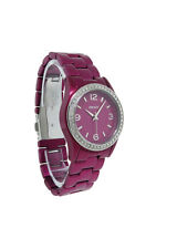 DKNY NY8309 Women's Round Grape Aluminum White Stones Analog Watch