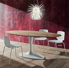 TAVOLO OVALE SOGGIORNO CUCINA PR-RUUD 210 x 116 cm PIANO ROVERE ANTICO Saarinen
