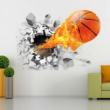 Basketball Removable Wall Sticker Home Decor Kid's Room Bedroom Playroom Decals
