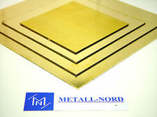 Messing Platte 150x150x3mm Ms63 ZUSCHNITT eins. foliert CuZn37 Flach Brass Sheet