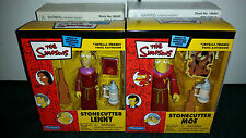 Stonecutter Lenny & Moe Mail Away Exclusive The Simpsons WOS Playmates BOTH MISP