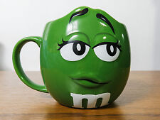 m&m Large barrel Mug / Cup m&ms World Green Collectable