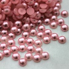 2000Pcs Half Round Pearl Flat Back Bead Scrapbooking Embellishment Craft 32Color