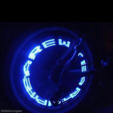 Wasserdicht Auto Fahrrad Motorrad Reifen Ventil Licht LED Buchstabe Licht BLAU