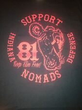 Hells Angels Nomads Indiana Support Shirt Defense Medium