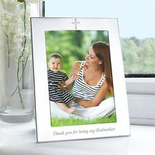 Photo Frame 'Thank you for being my Godmother' 5x7 Photo Frame - Aluminium