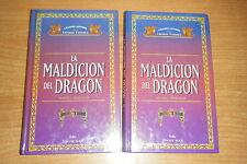 LA MALDICION DEL DRAGON, COMPLETA EN 2 LIBROS, TIMUN MAS FOLIO EN TAPA DURA.