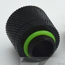 10 pcs Water Cooling Compression Fitting For 3/8 ID x 1/2 OD Tubing-BLACK