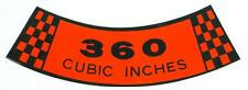 1970 71 72 73 74 75 76 77 78 FORD TRUCK  360-2V  AIR CLEANER DECAL