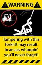 Forklift Warning Sticker Tool Box Assorted 3 Pack Funny Decal 192-193-194