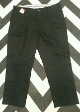 Mens Black Dickies Pleated Front Pants Work Clothing 44 X 30 NWT