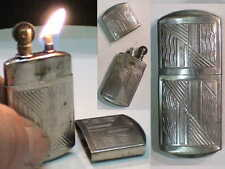 Briquet Ancien à l'Essence [ Poilu WW1 / WW2 ] Fuel Lighter  Feuerzeug Accendino