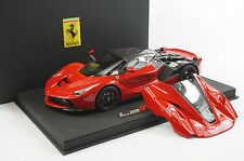 1/18 BBR FERRARI LAFERRARI OPEN ENGINE ROSSO CORSA BLACK DELUXE BASE LE 10 PC MR